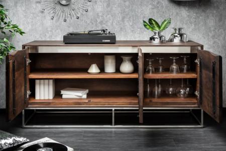 Massiev acaciahout dressoir MAMMUT 147 cm