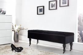 Noble BOUTIQUE Design bankje 110 cm (Zwart) met opbergruimte afbeeldingen