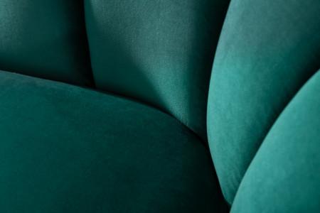 Retro 3 zitsbank ARIELLE 220 cm aqua stof fluweel met sierstiksels