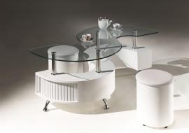 Salontafel Model: India II - Wit