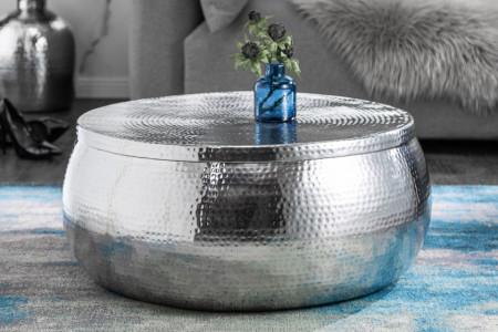 salontafel zilver met opbergruimte 70 cm orient storage