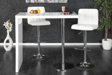 Design statafel MAGNUS 120cm bartafel hoogglans wit