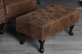 Hocker Model: Chesterfield - Antiek Bruin afbeeldingen