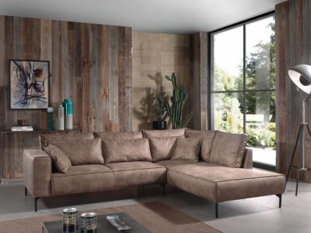 Lounge Hoekbank 272 cm kleur taupe bruin
