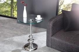 Ronde zilveren DWARSFLUIT bijzettafel met hoogwaardig glasplaat & metaal-aluminiumlaag afbeeldingen