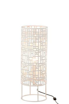 Vloerlamp Rond Metaal Wit 70cm