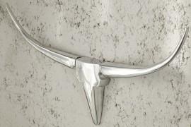 Wandgewei Model: Bull - Zilver - 75cm