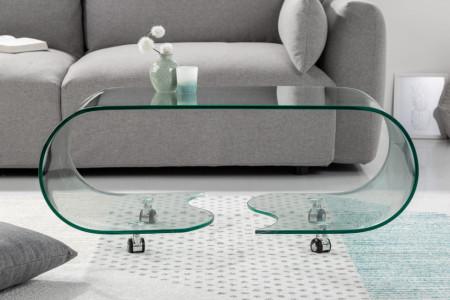 glazen transparant salontafel FANTOME 90 cm