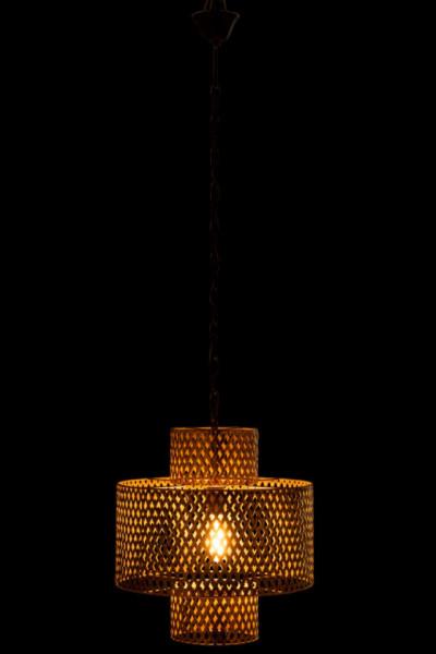 Hanglamp Breed Antiek Zink Goud 147cm