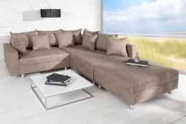 Loungebank Model: Sonja + Hocker - Cappuccino afbeeldingen