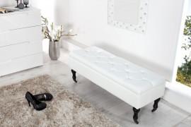 Noble BOUTIQUE Design bankje 110 cm (wit) met opbergruimte afbeeldingen