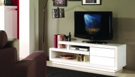 TV / HiFi Meubel Model: M-Small Spring - Wit afbeeldingen