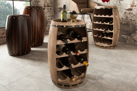 Authentiek wijnvat 64 cm naturel voor 14 Flessen