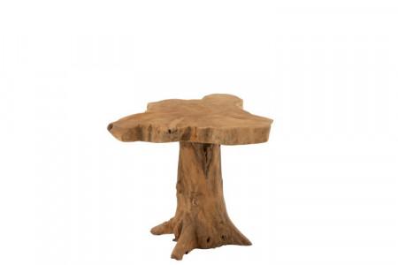 Bijzettafel Boom Teak Hout Naturel 55cm