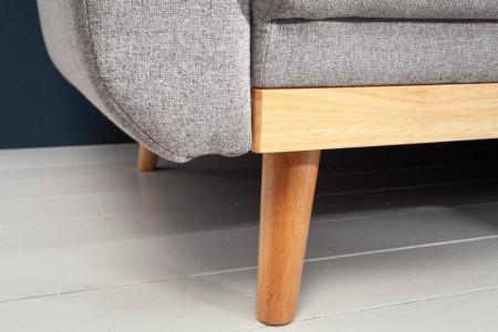 Design loungebank SKAGEN 265 cm lichtgrijs Scandinavisch design met slaapfunctie.lounge gedeelte aan beide zijden op te monteren.