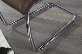 Eettafelstoel Model: Trinity - Suede Look Antiek Bruin - 20884