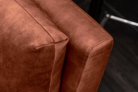 Elegante 3-zits bank MARVELOUS 220 cm antiek roestbruin