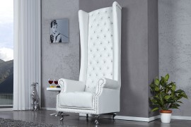 Fauteuil Model: Royal Chair - Wit afbeeldingen