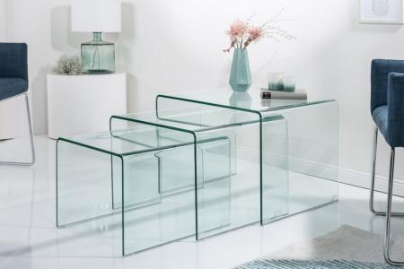 Glazen Salontafel met bijzettafels set van 3 FANTOME 60cm