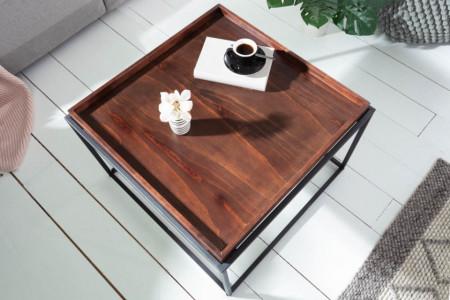 Industriële salontafel ELEMENTS 60cm mokka beuken verwijderbaar blad