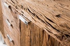 Massief dressoir BARRACUDA antiek teakhout met stalen skidpoten 160cm