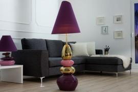 Paars met gouden STENEN Vloerlamp van extase  150 cm afbeeldingen