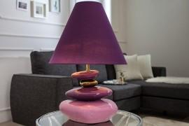 STENEN Tafellamp  ECSTASY violet goud 60 cm afbeeldingen