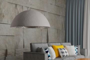 Stijlvol hanglamp GLOW 50cm beton zilver afbeeldingen