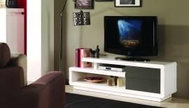 TV / HiFi Meubel Model: M-Small Spring - Wit / Grijs afbeeldingen