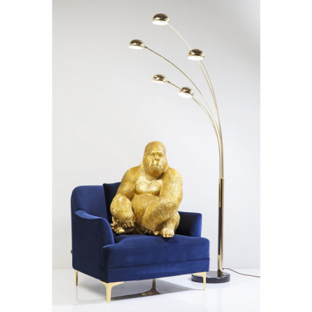 Decoratie figuur Monkey Gorilla Side XL Goud