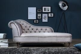 Long Chair Chesterfield bank in  fluwelen stof afbeeldingen