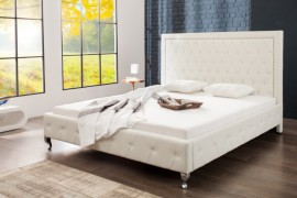 Modern design 2 persoons-bed extra vagância 180 x 200 cm, wit gestoffeerd bed
