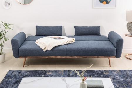 Slaapbank Stof blauw 208 cm 3-zits inclusief kussens