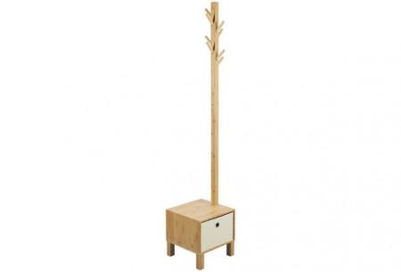 Staande kapstok incl Lade Rönne, massief bamboe 178cm