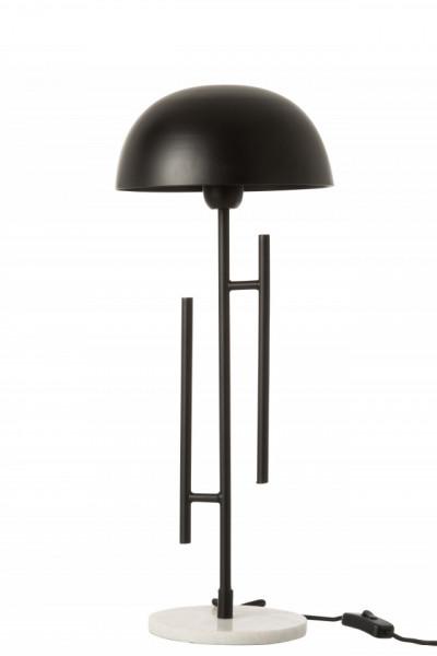 Tafel Lamp Viya ijzer,Marmer Zwart/Wit