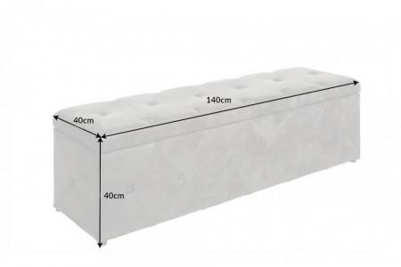 Bank met opbergruimte Chesterfield Design EXTRAVAGANCIA 140 cm antiek grijs