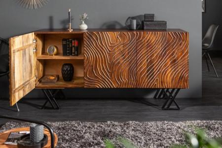 Dressoir mangohout Handgemaakt FLUID 160 cm