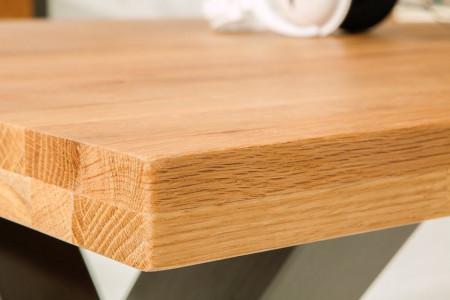 Industriële eettafel THOR 240 cm naturel wild eiken geoliede houten tafel