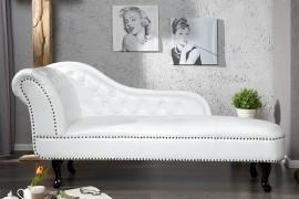 Long Chair Model: Chesterfield - wit afbeeldingen