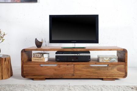 Massief TV lowboard CUBUS 130cm Sheesham 2 lades palissander