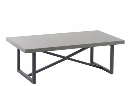 Salontafel Beton Finish Rechthoekig Hout/Metaal Grijs 120cm