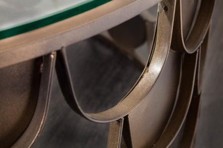 Salontafel messing in visschaal ABSTRACT 70cm