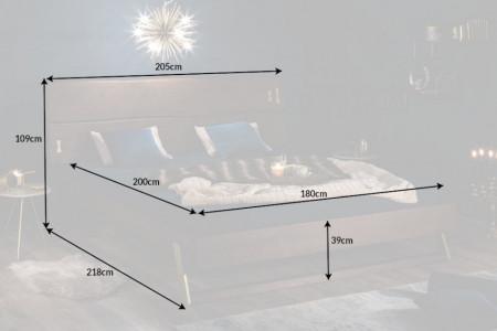 Bed Massief Acaciahout 180x200cm azijnafwerking
