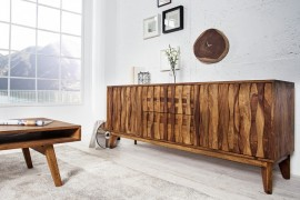 Design dressoir RETRO 160 cm Klassieke Sheesham-steenafwerking