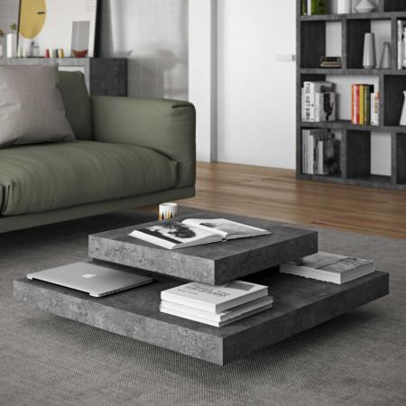 Design Salontafel Multi Grijs/Zwart