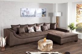 Exclusieve bruine antieke woonlandschap Design sofa MOMBASA afbeeldingen