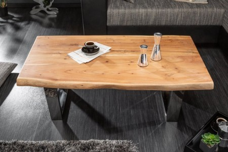 Massieve boom salontafel MAMMUT 110cm acacia 4cm tafelblad