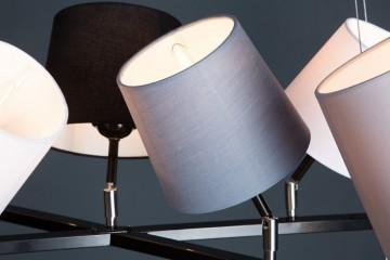 Modern hanglamp LEVELS II met 9 linnen parasols
