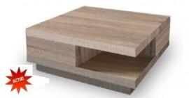 Moderne Design Salontafel met 2 Lades Model: Function - Licht sonoma eiken optiek