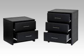 Nachtkastje Model: R-Kim - 3 lades - Zwart